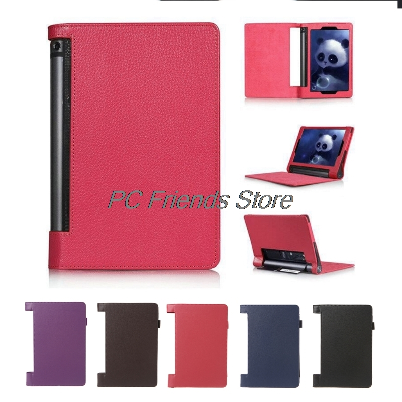 New 850F 8 Cover Case Tablet PC Slim Leather Folio Flip Cover Case For Lenovo Yoga Tab 3-PC Friend slim fit stand feature folio flip pu hybrid print case for lenovo tab 3 730f 730m 730x 7 inch