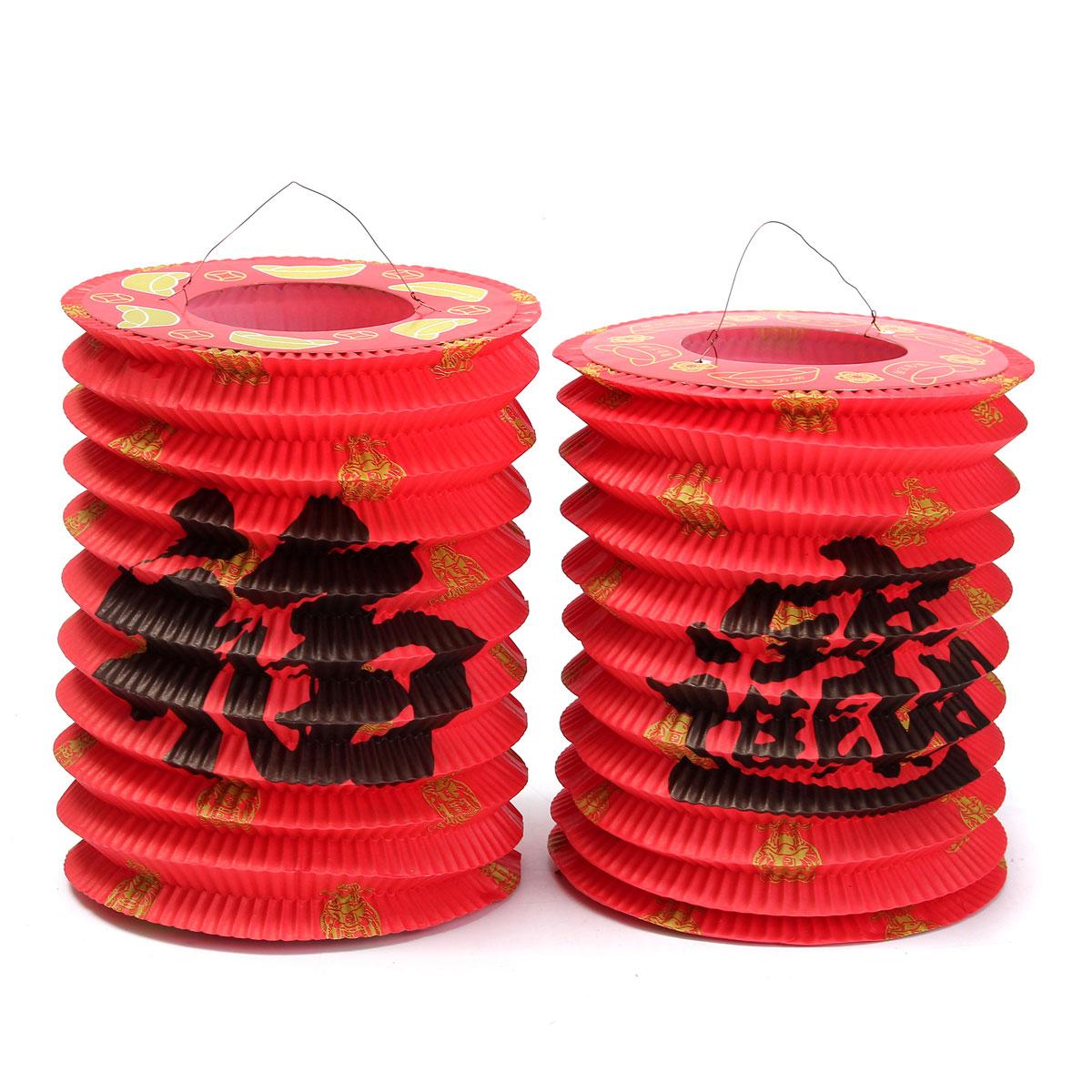 High Popular 1pcs 16 40cm Traditional Chinese Paper Lanterns For Wedding Party Pendant Lights Lanterns Sturdy Construction Lights & Lighting