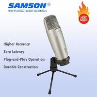 Original SAMSON C01U Pro USB Studio Condenser Microphone For Recording Music ADR Work Sound Foley Audio