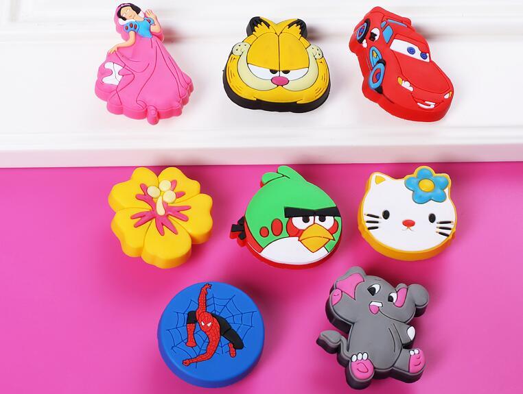 Soft plastic kids dresser drawer knob pull handle seven for Children s bureau knobs