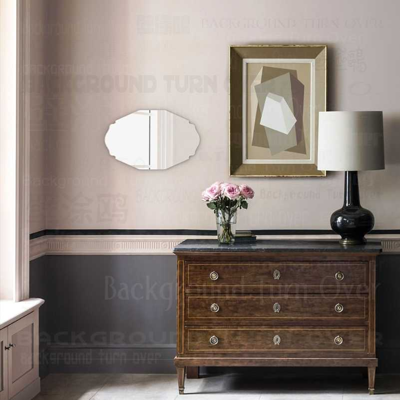Wall Mirror Table Bathroom Antique Mirrors Small Large Makeup Framed Shaving Frame Decor Cosmetic Plastic Hanging Oval M014 Aliexpress