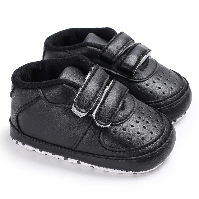 4d26df777 Baby PU Leather Solid Autumn Toddler Slippers Baby Boys Soft Sole ...
