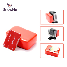 SnowHu for GoPro Accessories Floaty Block Sponge with Sticker Adhesive For Hero 7 6 5 4 3+2 1 Xiaomi yi SJCAM GP46