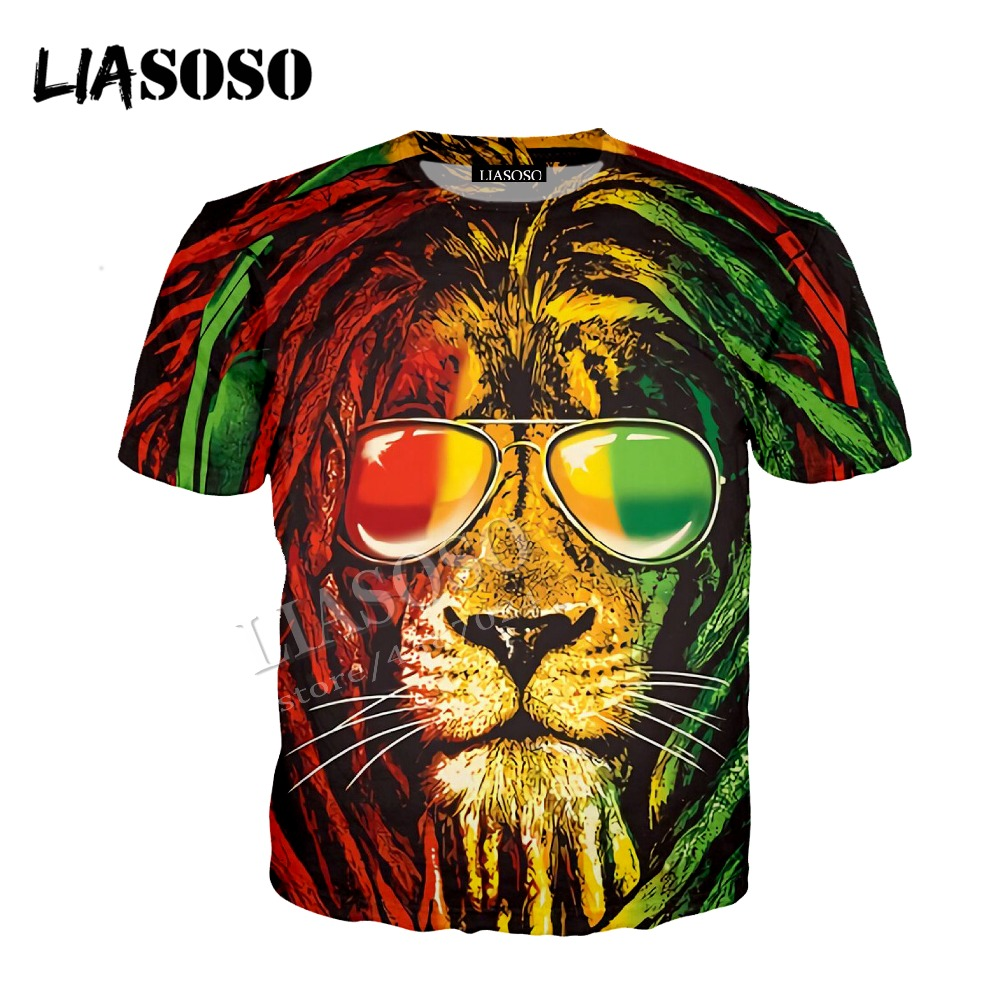LIASOSO latest 3D printed comfortable polyester shirt cool animal sunglasses curly lion zipper hooded shirt for men women CX432