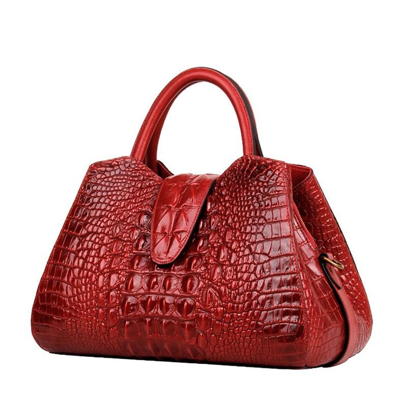 Luxury 100% Genuine Leather Women Bag\Handbag Fashion Retro Tote Top Cowhide Embossed ladies' Shoulder Bag Messenger bag~18B28 luxury fashion retro 100% genuine leather women shell bag handbag cowhide shoulder bag tote bag 13b58