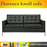 U BEST современный дизайн кожаная обивка секционная, реплики кожа Флоренция Knoll угловой диван