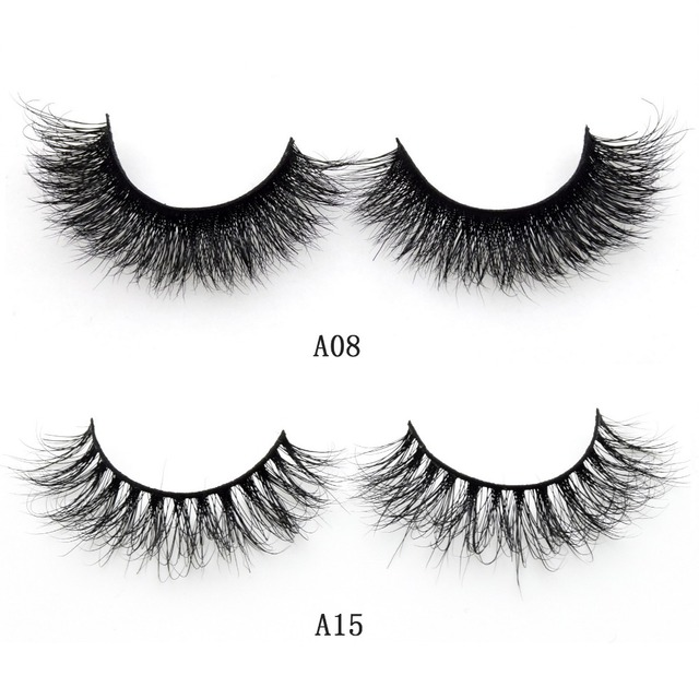 Visofree Mink Lashes 3D Mink False Eyelashes Long Lasting Lashes Natural & Lightweight Mink Eyelashes 1 pair Glitter Packaging 3
