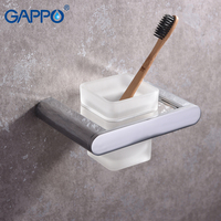 GAPPO Toilet Brush Holders black wall mounted bathroom Brush Holders hangers bath hardware accessories storage