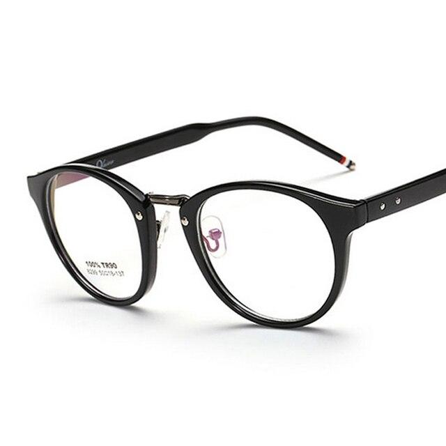 15411f7bd51d1 New Fashion Vintage Glasses Round Metal Ultra-light Alloy Frame Retro  Optical Myopia Reading Glasses Frame for Men Women Brand