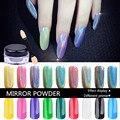 1g ESPEJO POWDER UÑAS Holográfico Esmalte de Uñas Nail Art Glitter Polvo de Unicornio Cromo Reflejando Pigmento En Polvo Láser Lentejuelas