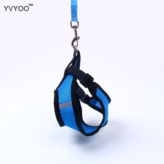 YVYOO Fashion Pet dog Vest Harnesses  Breathable comfortable Pet supplies Leashes dog Leads  Safety Mesh chest strap  PD001
