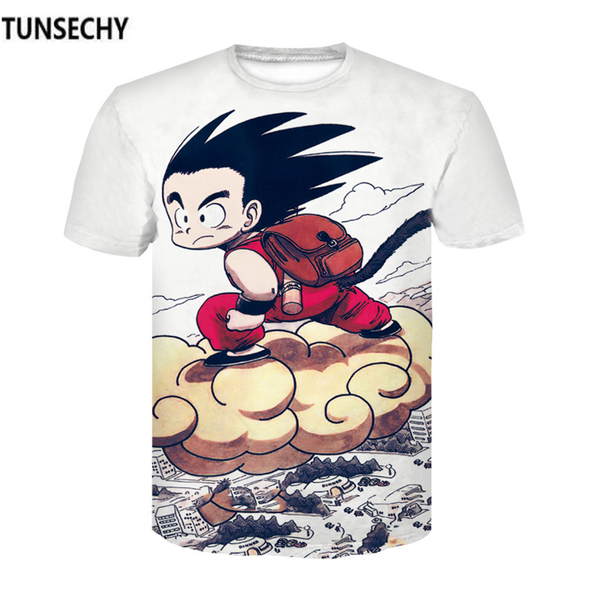 TUNSECHY Brand Dragon Ball T Shirt 3d T-shirt Anime Men T Shirt Funny T Shirts Hip Hop 2017 Japanese Mens Clothes Vintage Clothi