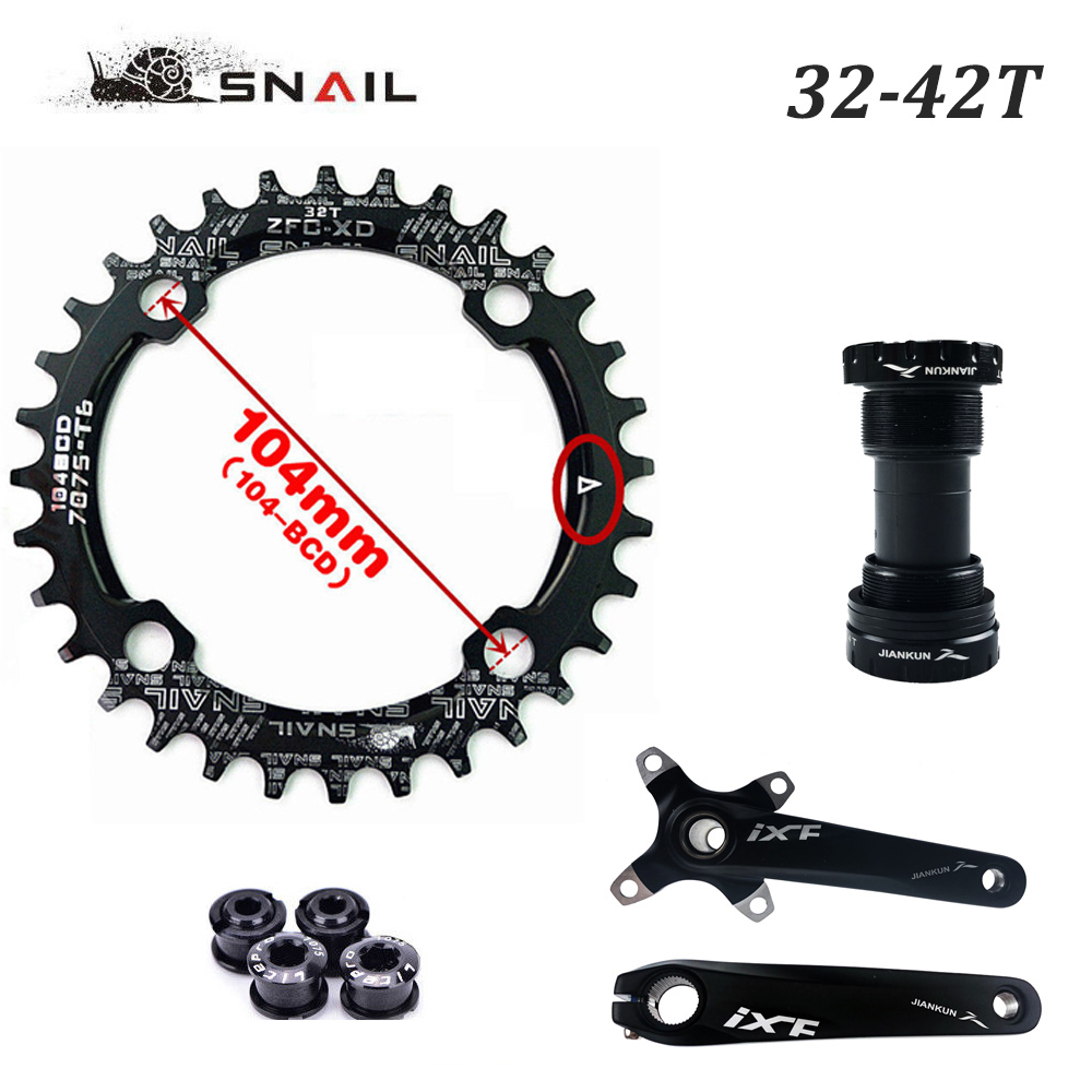 SNAIL 104BCD MTB Bike Chainring Round//Oval Narrow Wide Chainwheel Disc 32-42t