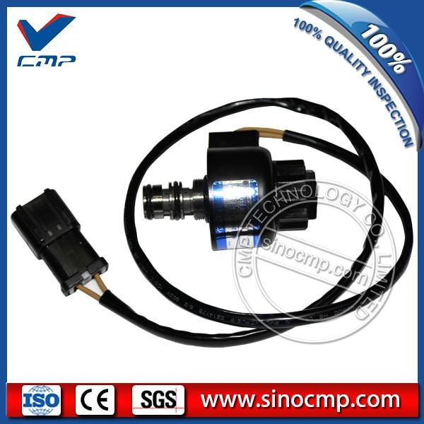 203-60-56180 komatsu PC100-5 PC150-5 용 굴삭기 스윙 솔레노이드 밸브