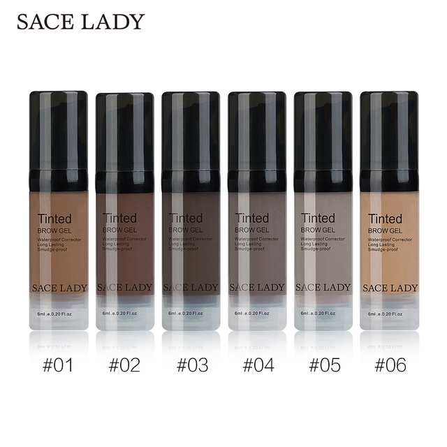 SACE LADY 6 Colors Henna Eyebrow Gel Waterproof Tint Makeup Brush Set Brown Enhancer Eye Brow Dye Cream Make Up Paint Cosmetic 1