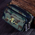 Saco Da Cintura Militar Do Exército de Trabalho da lona Sacos Pequenos Sacos Molle Cintura Ocasional Pacote de Cintura Duplo Zíper Design À Prova D' Água
