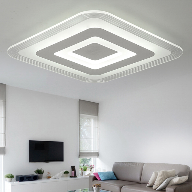 moderne acrylique led plafond luminaire salon chambre. Black Bedroom Furniture Sets. Home Design Ideas