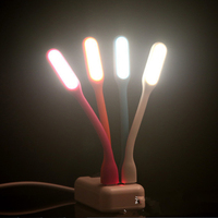 6pcs Lot USB Flexible Portable Mini LED Light Lamp For Power Bank Notebook Computer Summer Gadget