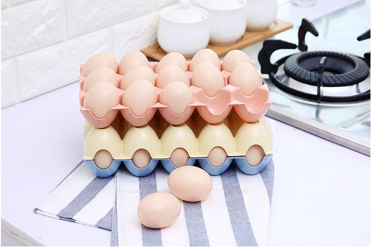 1PC Kitchen Egg Storage Box Organizer Refrigerator Storing 15 Eggs Container Racks And Shelf LF 250