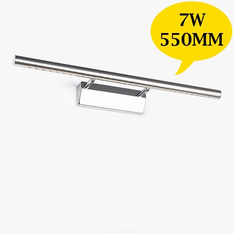 Wall mounted desk light aliexpresscom buy 550mm 7w led bathroom mirror light washing mozeypictures Gallery