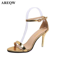 2017 Europe And The United States Classic Fashion Sexy Buckle High Heeled Shoes High Heeled Shoes