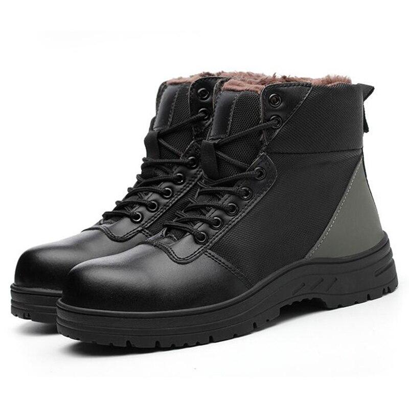 Trabalho Steel Do Acolchoado Caps Sapatos Anti Toe Mens Bonito Algodão Inverno pierce Neve Segurança Tornozelo quente Botas De Proteção Ocasional qtwYg40