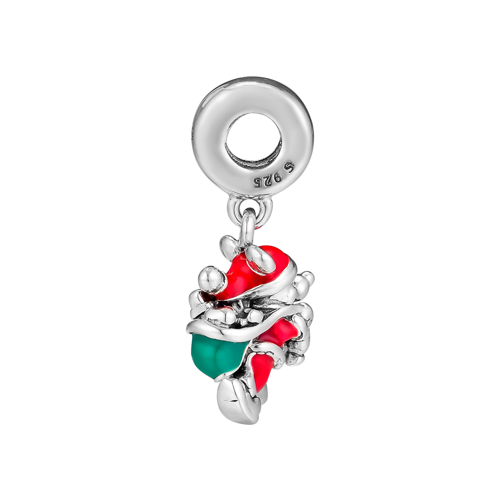 e29b875f0 Fits Pandora Charms Bracelets 925 Sterling Silver Jewelry Santa Mickey & Gift  Bag Hanging Charm Beads Jewelry Making for Women-in Beads from Jewelry ...