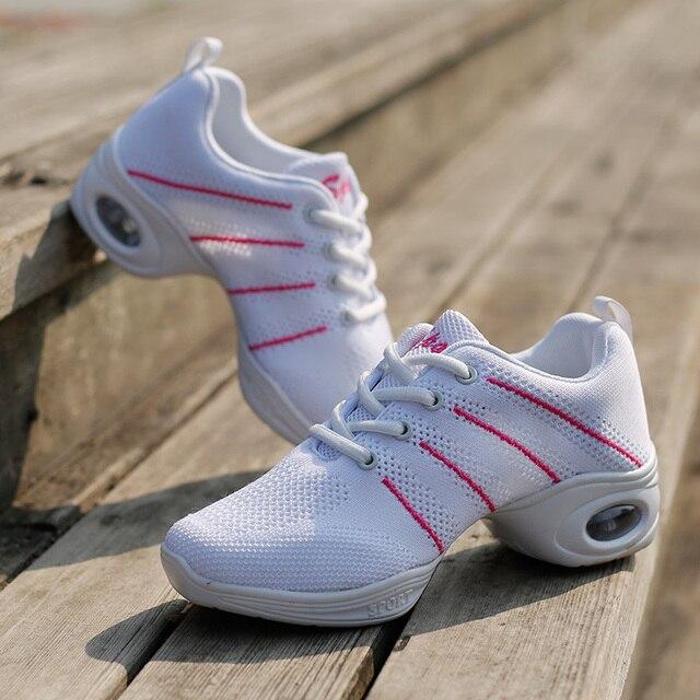 Nueva Modern Zapatillas de baile mujer fitness respirable maestros Latino Jazz  hip hop Zapatos bailarín sneakers 460ca3f22f0