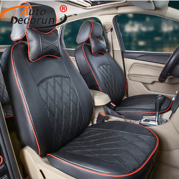 AutoDecorun PU leather car seats cushion for MG GT accessories seat cover set custom fit seats supports cushion interior styling