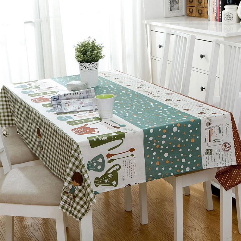 Restaurant Cartoon Tablecloth Rural Tea Table Table Cloth Desktop Cover