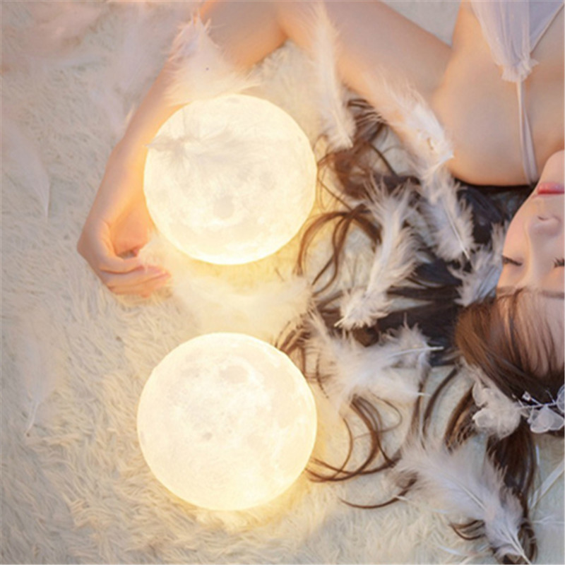 3D Print Moon Lunar Lamp Night Lights New Year Christmas garland fairy Gift desk table wedding Lighting Indoor Luminarias Decor 30m 300 led 110v ball string christmas lights new year holiday party wedding luminaria decoration garland lamps indoor lighting