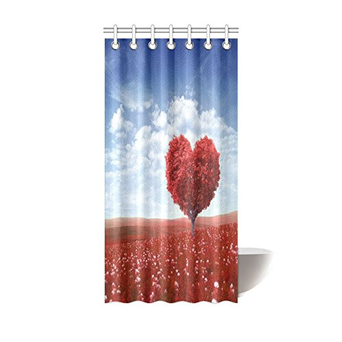 WARM TOUR Valentine Heart Shaped Pink Love Tree Fashion Shower Curtain  Hotel/Bathroom With Hooks Ring72''X72''Inch - Compare Prices On Valentine Shower Curtains- Online Shopping/Buy