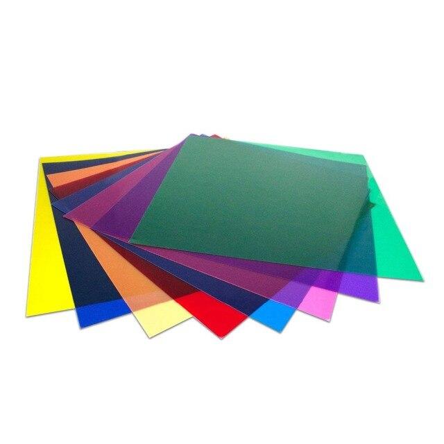 Uniwersalny zestaw 30x30 cm z 8 przezroczystym filtrem żelowym do korekcji kolorów na akcesoria do studia fotograficznego