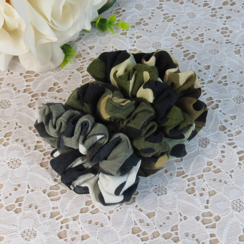 Headwear Hair Camouflage Ribbons Ponytail Holder Hair Tie Band  Women Hair Accessories Fabric Hair Bands hair tie 3pcs