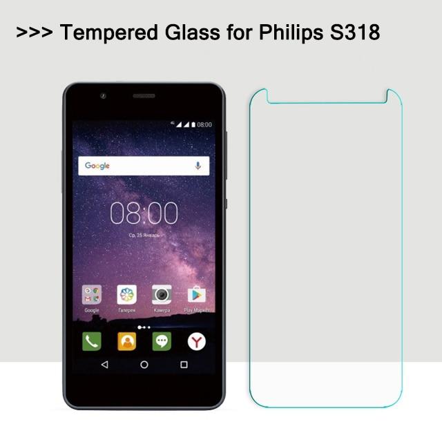 Для Philips S318 закаленное Стекло защитная пленка взрывозащищенные ЖК-дисплей Экран протектор для Philips S 318 S318 5,0 дюйма 2.5D 9 H NO19