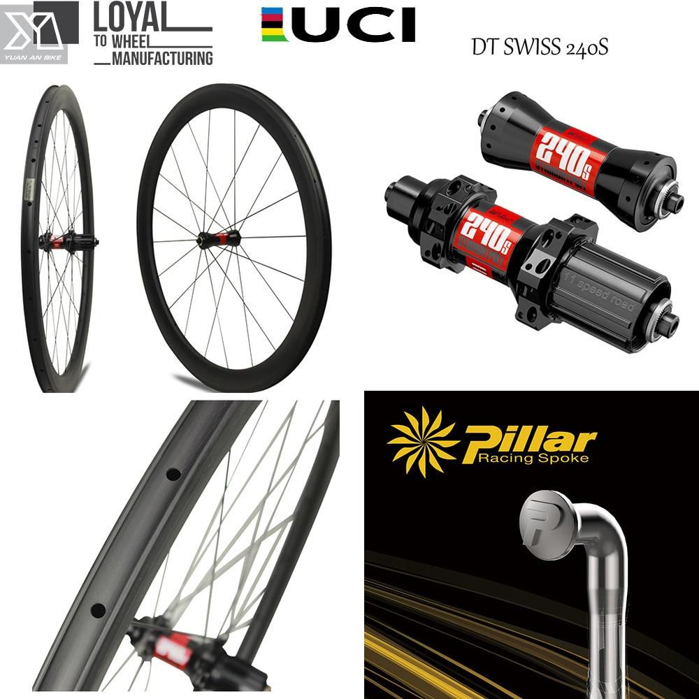 Aero Bicycle Carbon Wheel Tubular Clincher Tubeless Rim Road Bike Wheelset 30mm 38mm 47mm 50mm 60mm