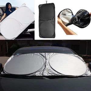 Image 5 - 6 Pcs Zonneklep Voorruit Shade Zilver Reflecterende Opvouwbare Voorruit Volledige Schild Auto Zonneklep Cover Uv Beschermen Reflector