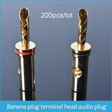 מכירה לוהטת 200pcs בננה תקע מחבר רמקול מתאם מסוף ראש אודיו תקע שילובי מושב פנל קיר רמקול חוט