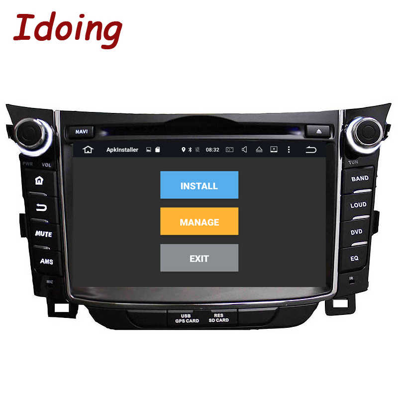 "Idoing 2Din 7 ""Android8.0 4G + 32G di Governo-Ruota Fit Hyundai I30 Car Multimedia Player GPS di navigazione Bluetooth TV 3G WIFI Radio"