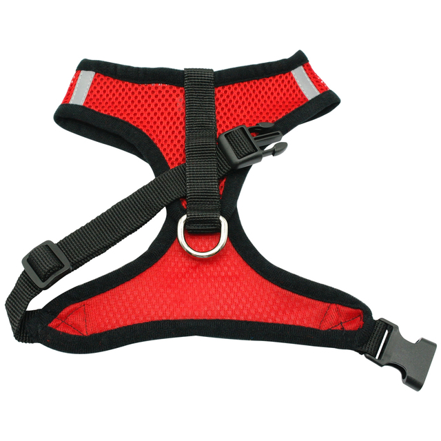 New Soft Breathable Air Nylon Mesh Puppy Dog Pet Cat Harness and Leash Set 5
