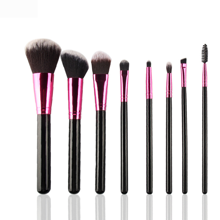 Professional 8Pcs Makeup Brush Set Powder Foundation Brush Eyebrow Eyeshadow Cosmetic Make Up Tools Toiletry Kit for Women lcbox professional 40pcs cosmetic makeup brushes set blusher eyeshadow powder foundation eyebrow lip make up brush with bag