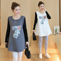 Cotton Maternity Shirts Pregnancy T Shirt Pregnant T-shirt Spring Autumn Maternity Tops Tees Ropa Premama Pregnancy Clothes B258