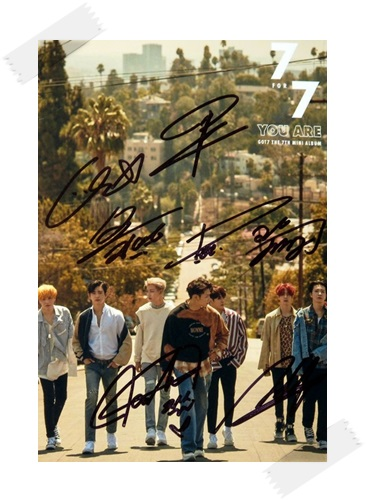 signed GOT7 GOT 7 autographed group photo 7 FOR 7 6 inches free shipping 102017B got7 got 7 jb autographed signed photo flight log arrival 6 inches new korean freeshipping 03 2017