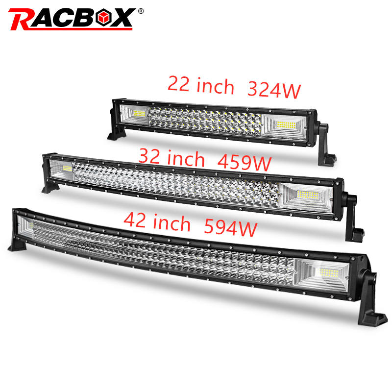 LED Bar for UAZ 4x4 offroad 22 32 42 inch LED Light Bar 324w 459w 594w Spotlight LED Beam 12V 24V fog headlights LED Work light