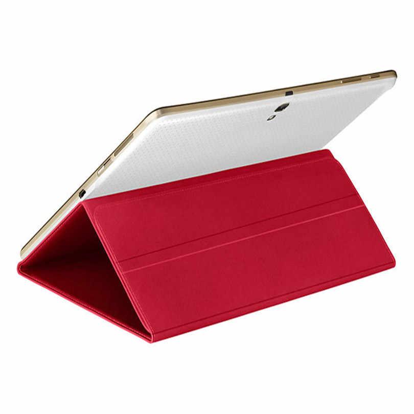 Tablet pokrowiec stań pokrywa dla Samsung Galaxy Tab S 10.5 Cal SM-T800/T805 akcesoria Ultra Slim Book Tablet PC ochrony powłoki a50