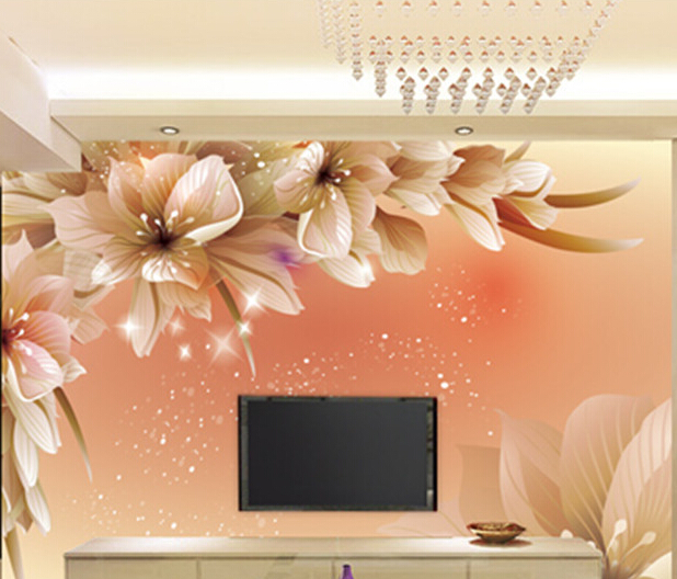 2016 new bestselling custom-made large mural art wallpaper wall paper 3d vision waterproof sitting room bedroom abstract flowers custom baby wallpaper snow white and the seven dwarfs bedroom for the children s room mural backdrop stereoscopic 3d