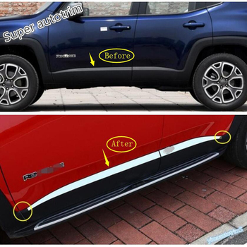 цена на Lapetus Side Door Body Molding Strip Cover Trim Stainless Steel Fit For Jeep Renegade 2015 2016 2017 2018 2019 2020 Exterior Kit