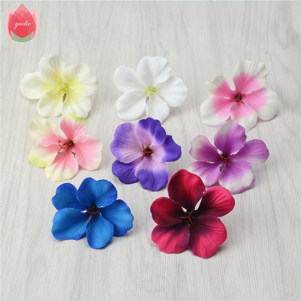 20pcs Spring Silk Gradient Orchid Artificial Flowers For Wedding