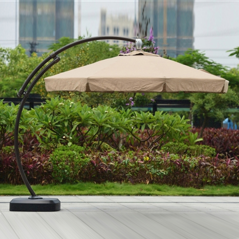 Dia 3.5 meter aluminum deluxe outdoor patio sun umbrella garden parasol sunshade big pole furniture covers with wheels лампа светодиодная 5вт gu5 3 220в sholtz хол св
