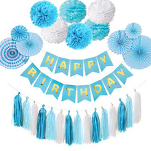 28 pieces Paper fan flower Kit birthday party hanging decorations Party DIY decor Decoration